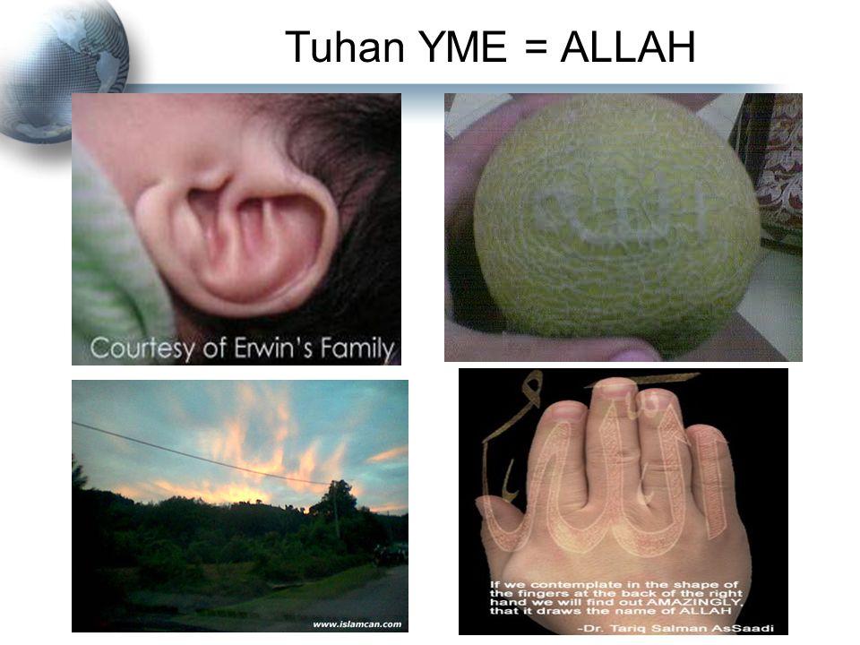 Tuhan YME = ALLAH