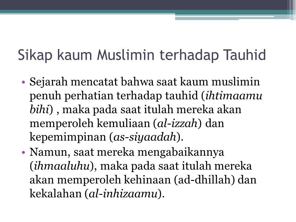Sikap kaum Muslimin terhadap Tauhid