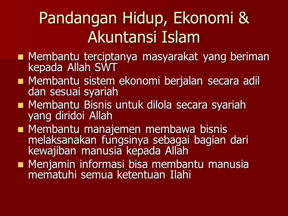 Pandangan Hidup, Ekonomi & Akuntansi Islam