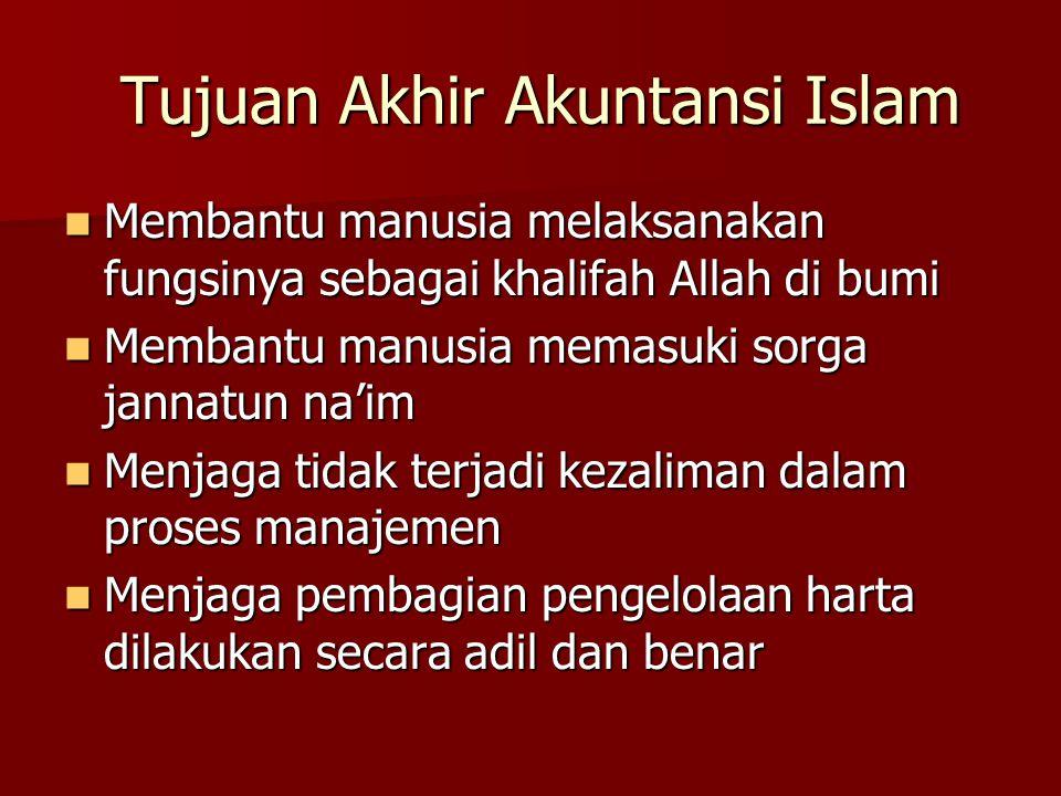 Tujuan Akhir Akuntansi Islam