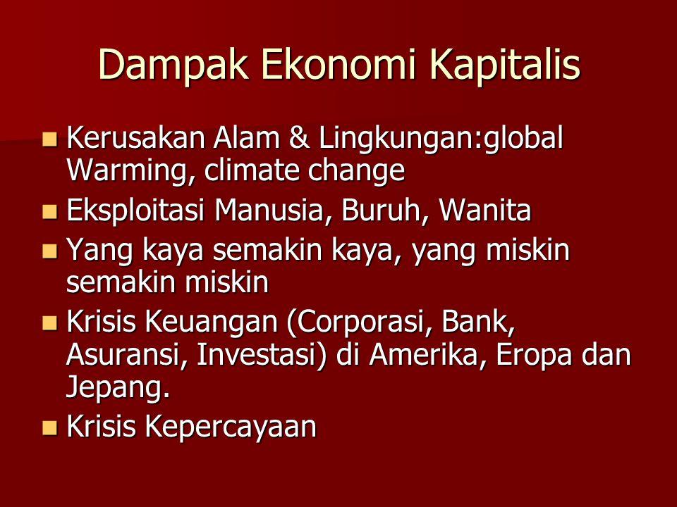 Dampak Ekonomi Kapitalis