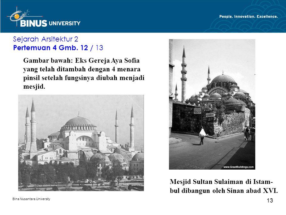 Mesjid Sultan Sulaiman di Istam- bul dibangun oleh Sinan abad XVI.