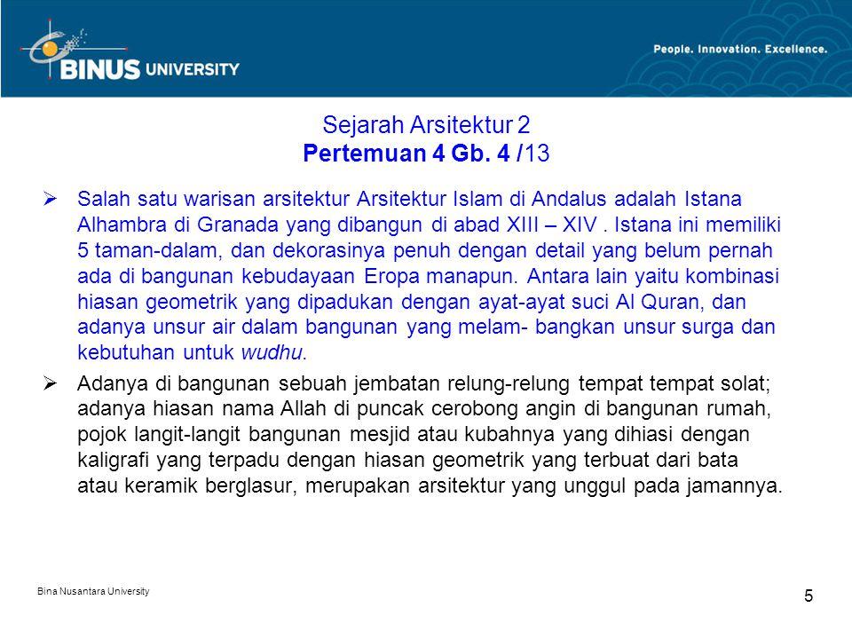 Sejarah Arsitektur 2 Pertemuan 4 Gb. 4 /13