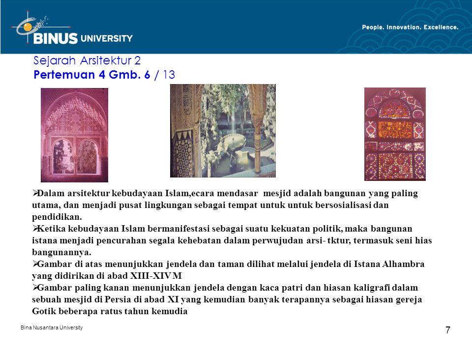 Sejarah Arsitektur 2 Pertemuan 4 Gmb. 6 / 13