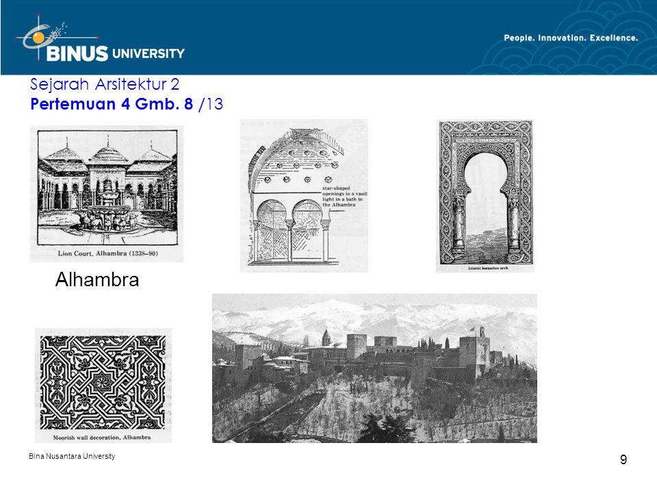 Alhambra Sejarah Arsitektur 2 Pertemuan 4 Gmb. 8 /13