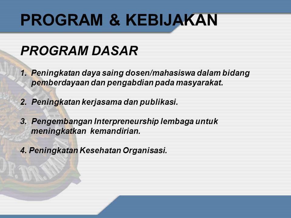 PROGRAM & KEBIJAKAN PROGRAM DASAR
