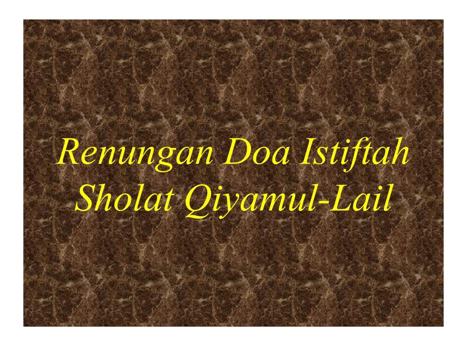 Renungan Doa Istiftah Sholat Qiyamul-Lail