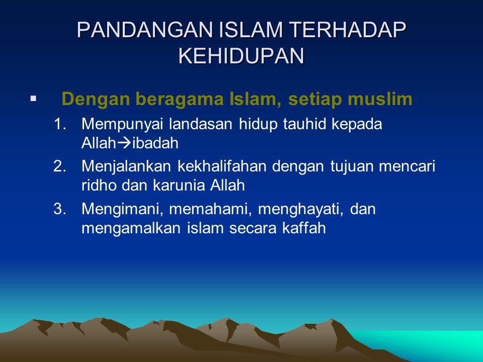PANDANGAN ISLAM TERHADAP KEHIDUPAN