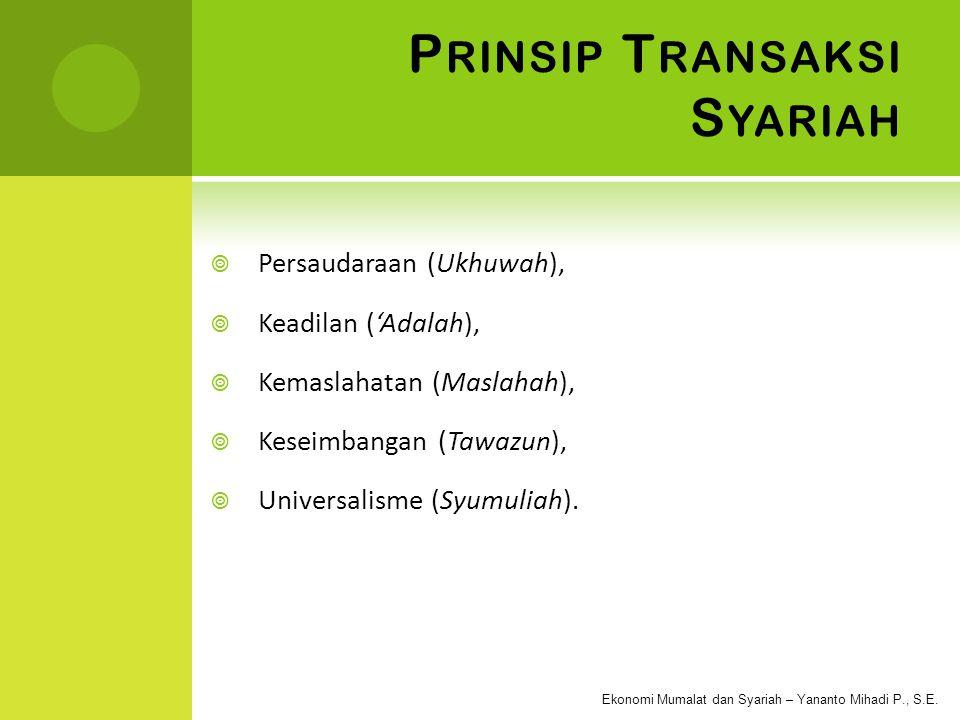 Prinsip Transaksi Syariah