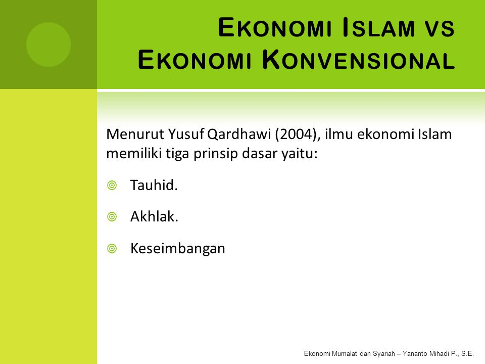 Ekonomi Islam vs Ekonomi Konvensional
