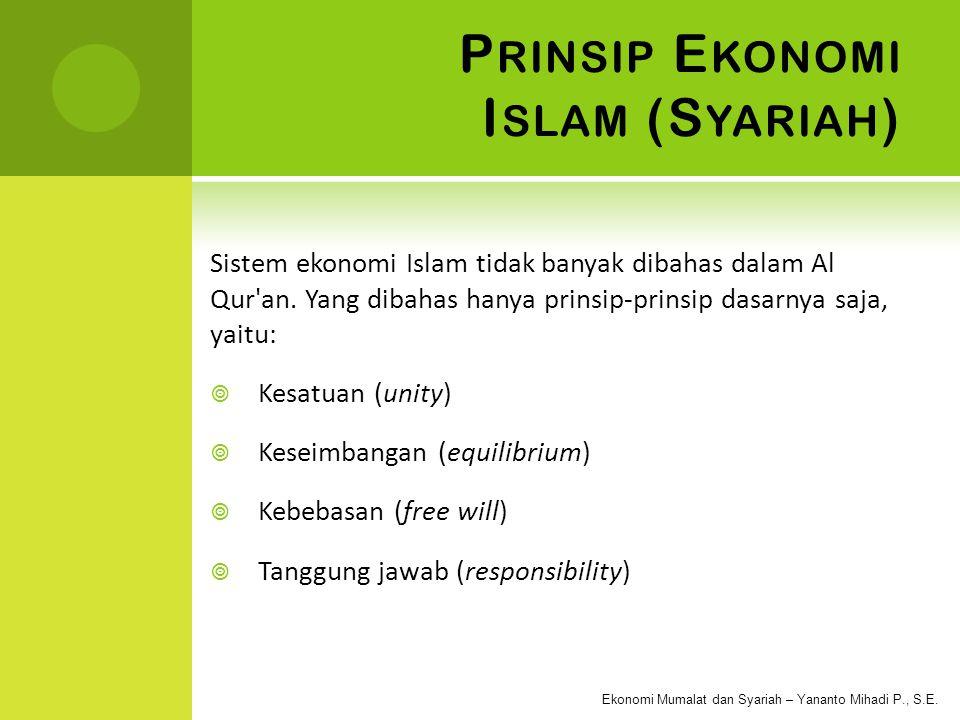 Prinsip Ekonomi Islam (Syariah)