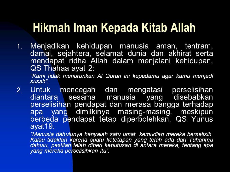 Hikmah Iman Kepada Kitab Allah