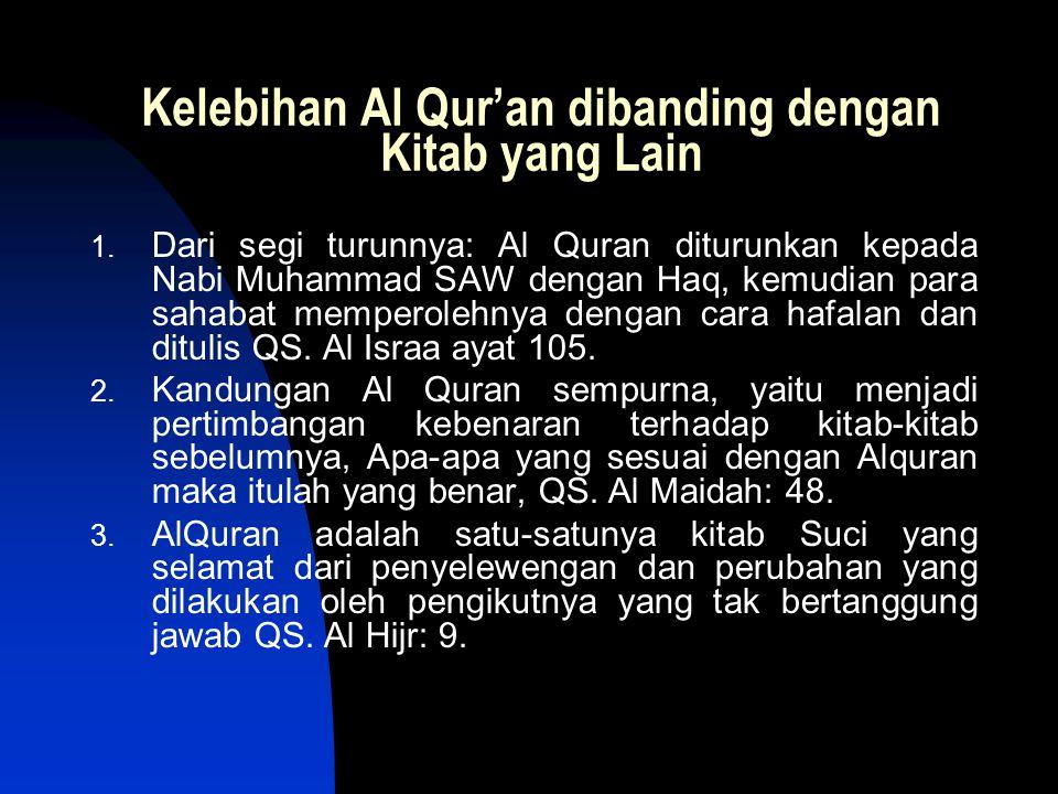 Kelebihan Al Qur'an dibanding dengan Kitab yang Lain