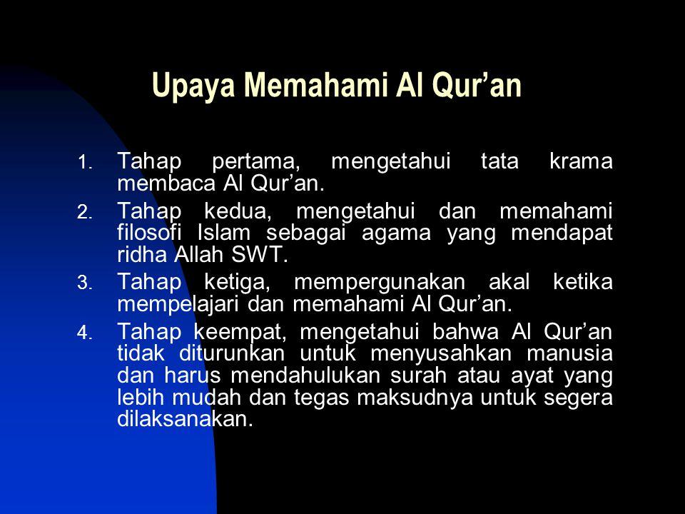 Upaya Memahami Al Qur'an