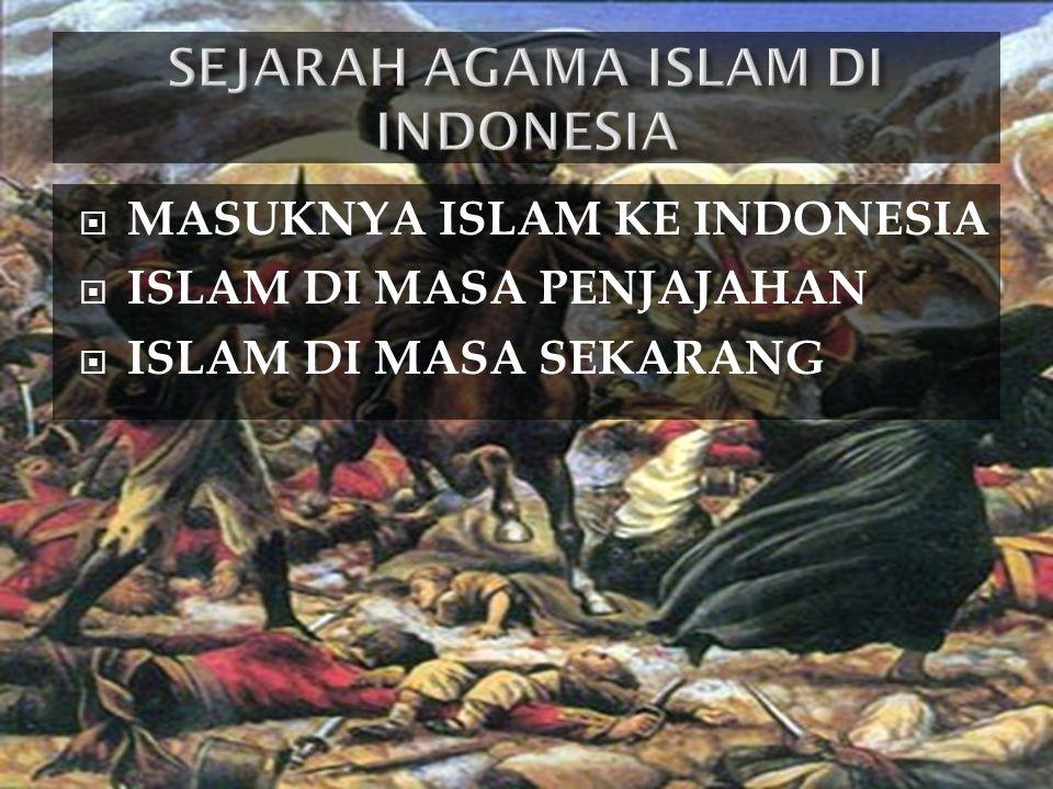 SEJARAH AGAMA ISLAM DI INDONESIA