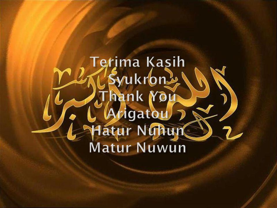 Terima Kasih Syukron Thank You Arigatou Hatur Nuhun Matur Nuwun