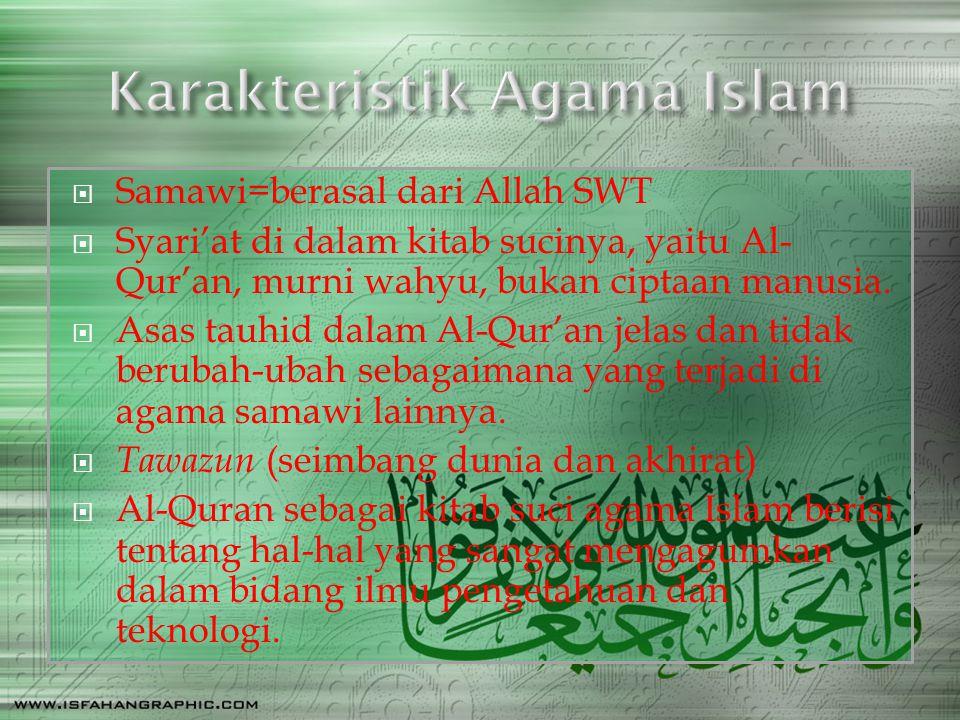 Karakteristik Agama Islam