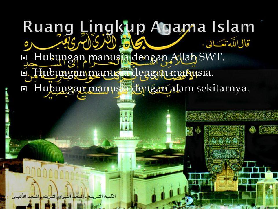 Ruang Lingkup Agama Islam