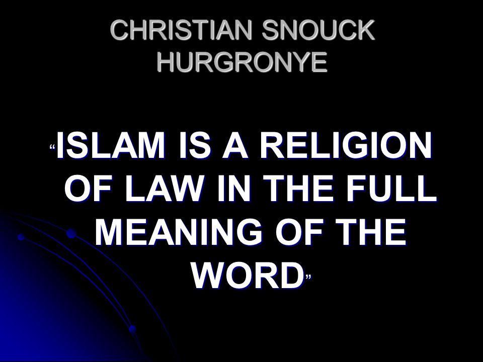CHRISTIAN SNOUCK HURGRONYE
