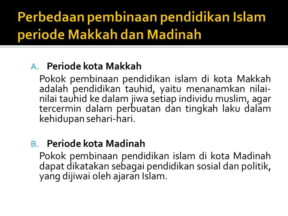 Perbedaan pembinaan pendidikan Islam periode Makkah dan Madinah