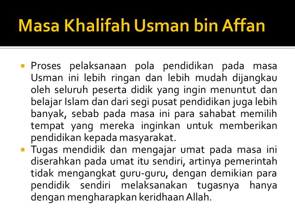 Masa Khalifah Usman bin Affan