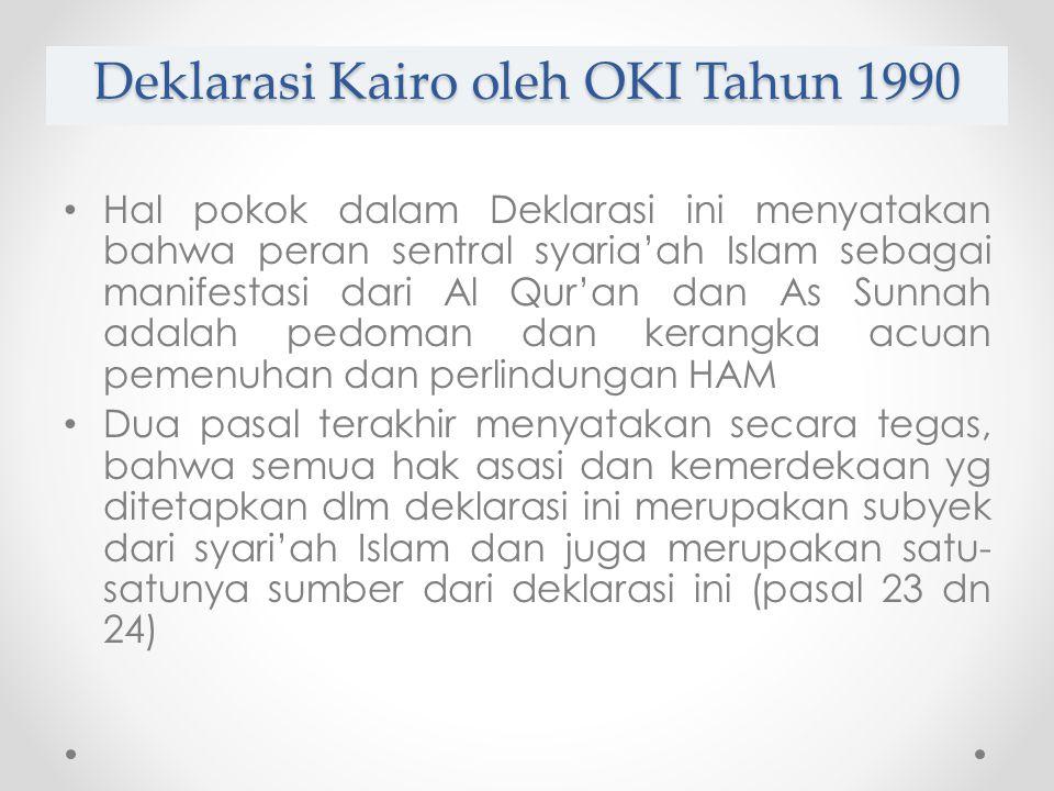 Deklarasi Kairo oleh OKI Tahun 1990
