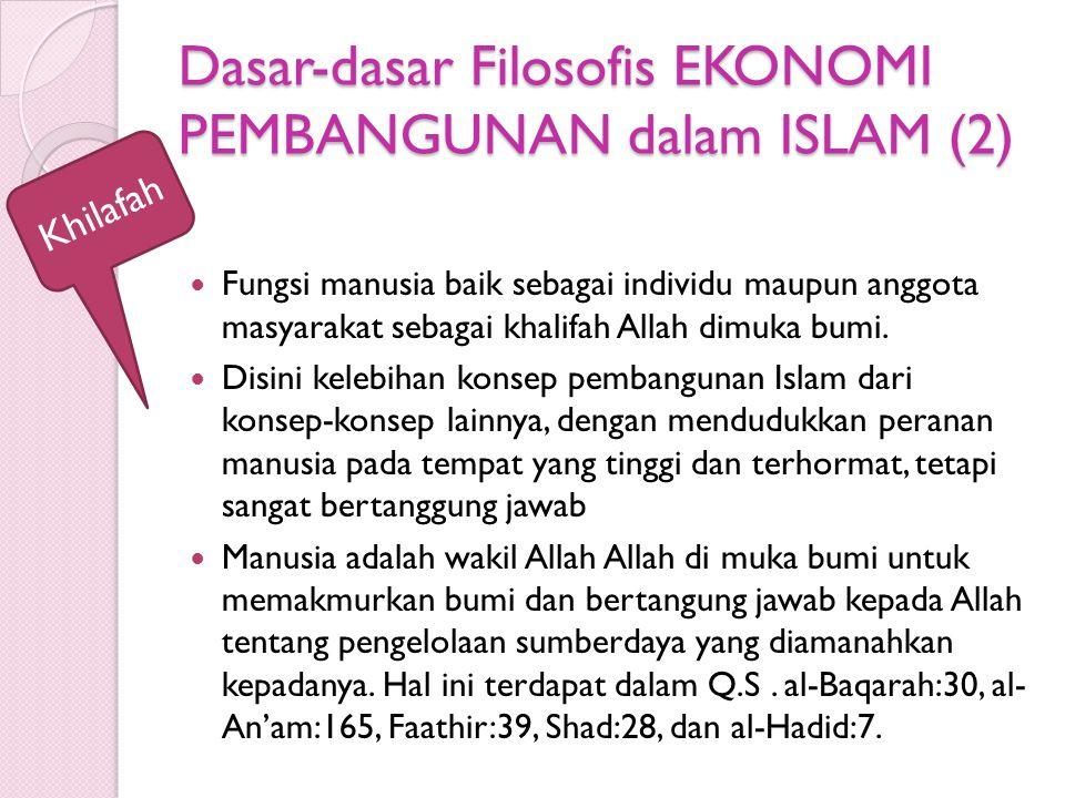 Dasar-dasar Filosofis EKONOMI PEMBANGUNAN dalam ISLAM (2)