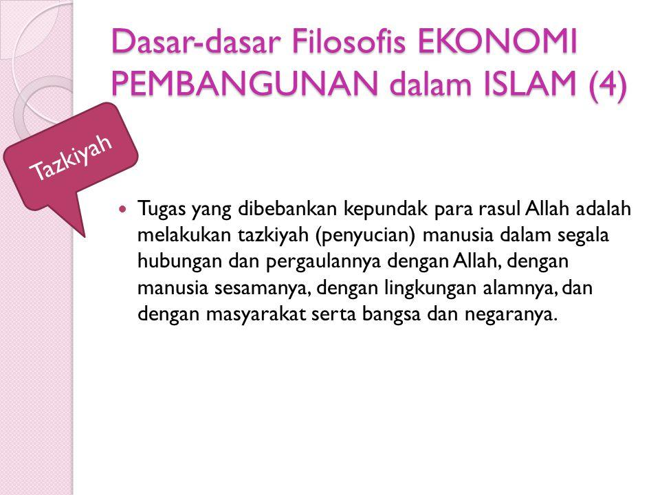 Dasar-dasar Filosofis EKONOMI PEMBANGUNAN dalam ISLAM (4)