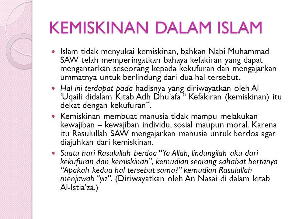 KEMISKINAN DALAM ISLAM