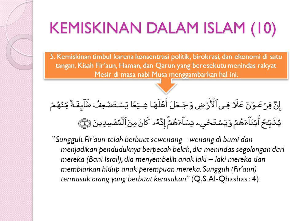 KEMISKINAN DALAM ISLAM (10)