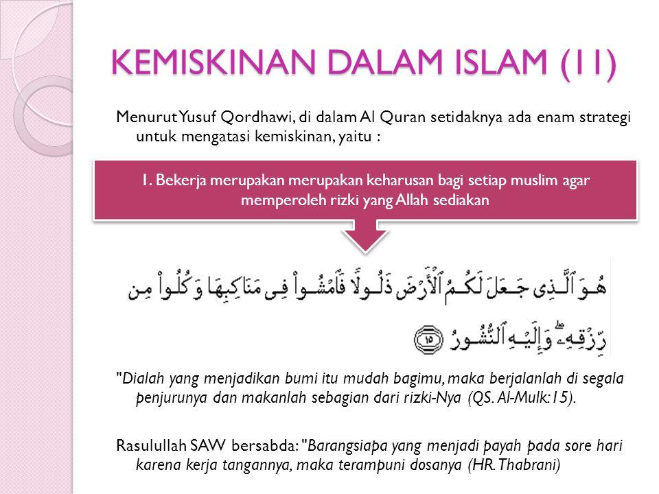 KEMISKINAN DALAM ISLAM (11)