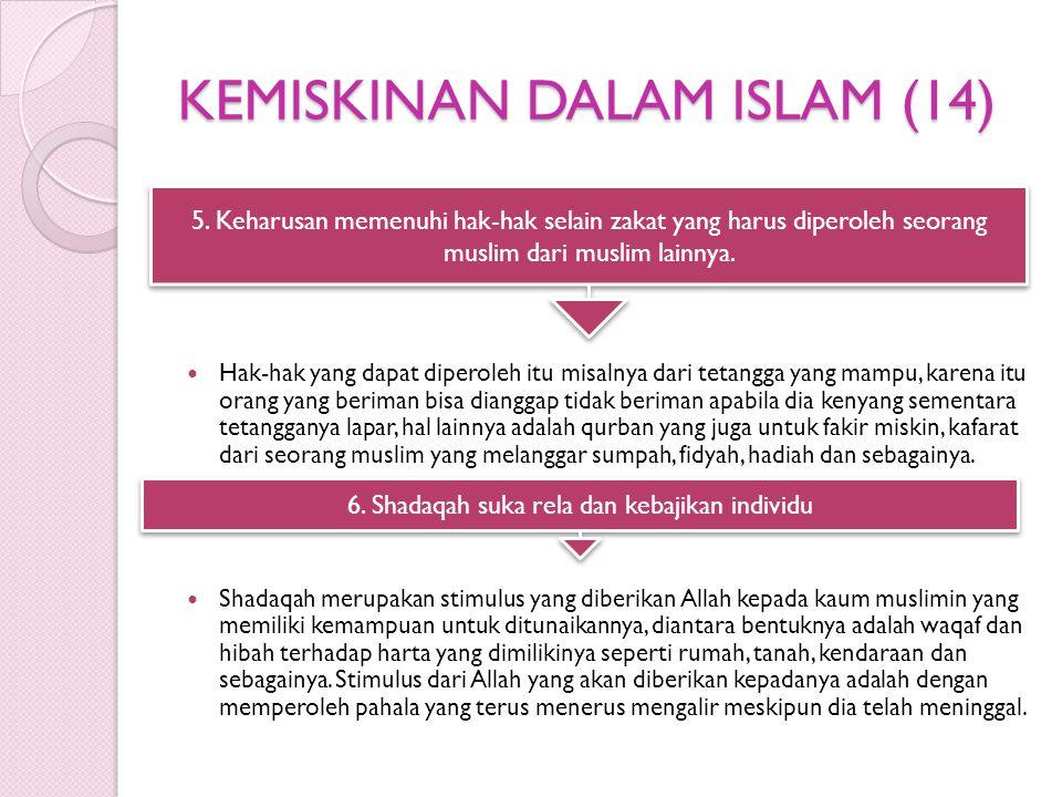 KEMISKINAN DALAM ISLAM (14)