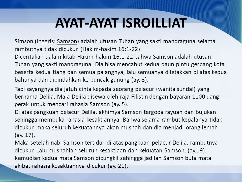 AYAT-AYAT ISROILLIAT