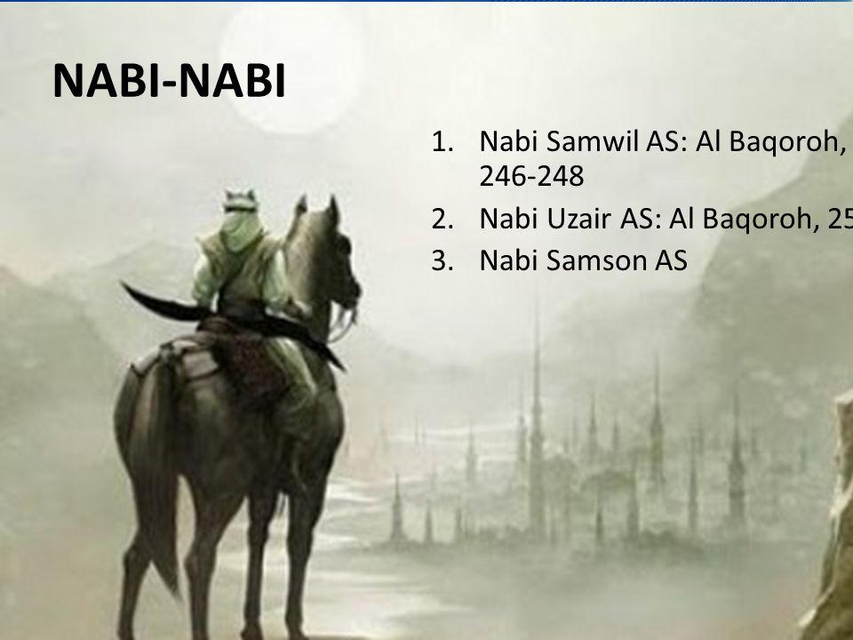 NABI-NABI Nabi Samwil AS: Al Baqoroh, 246-248