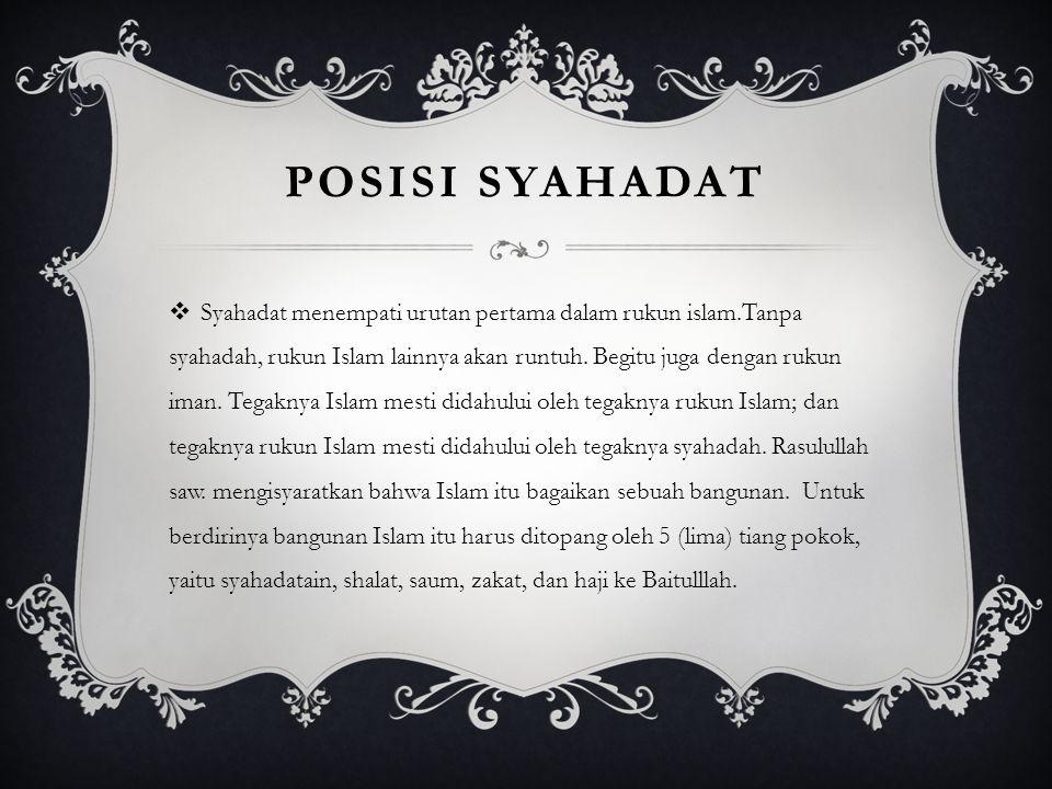 POSISI SYAHADAT