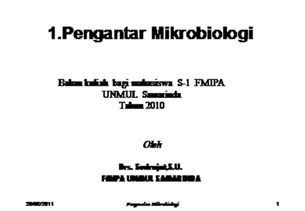 1.8.Cabang-cabang Mikrobiologi