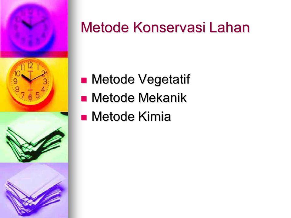 Metode Konservasi Lahan
