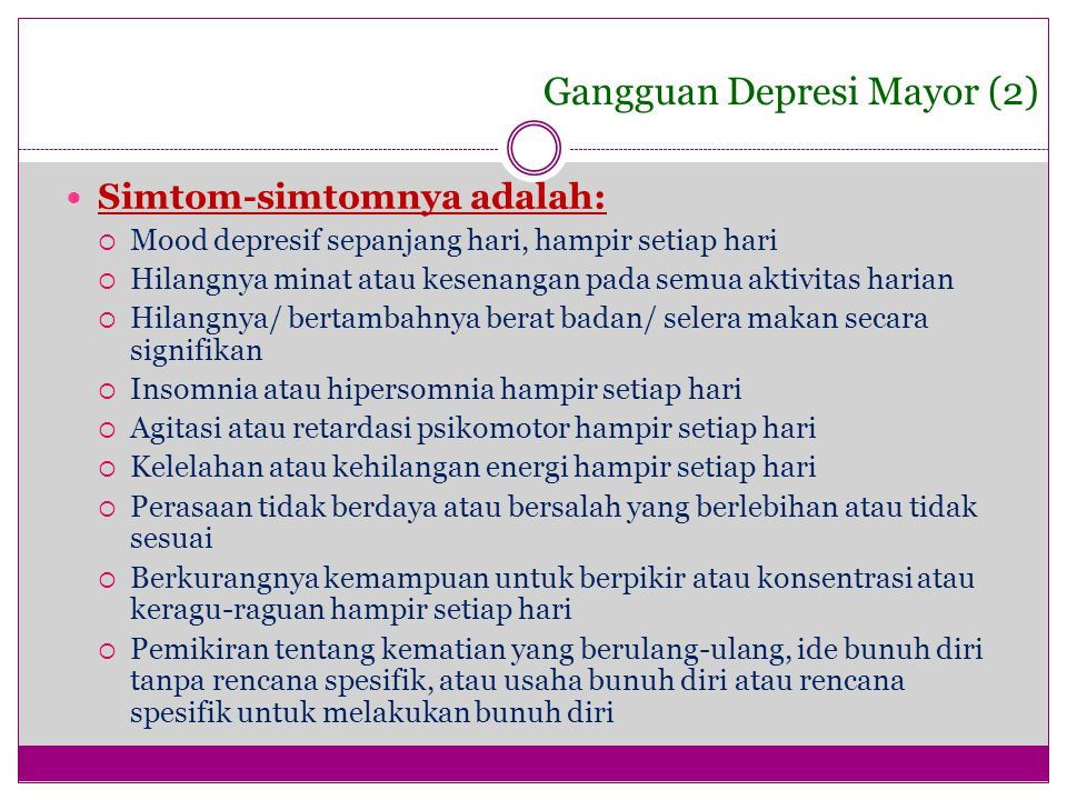 Gangguan Depresi Mayor (2)