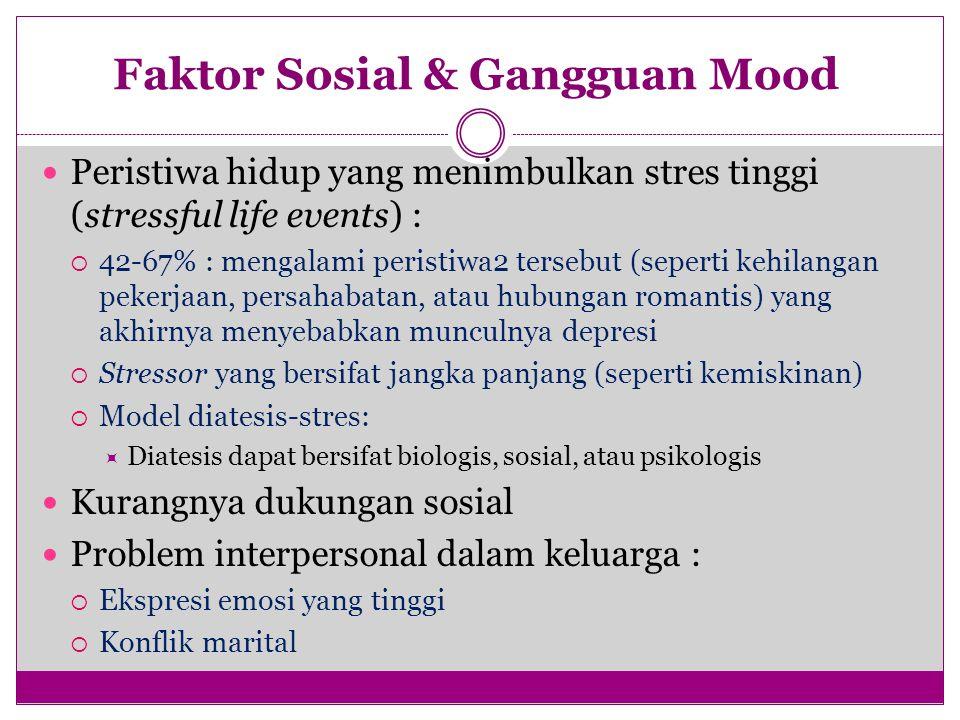 Faktor Sosial & Gangguan Mood
