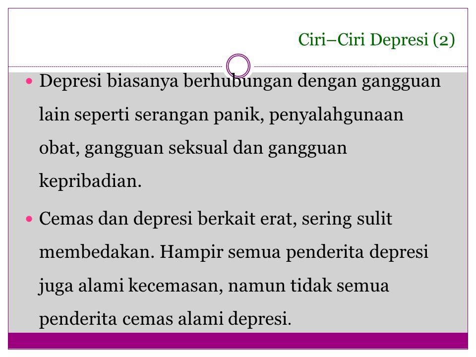 Ciri–Ciri Depresi (2)