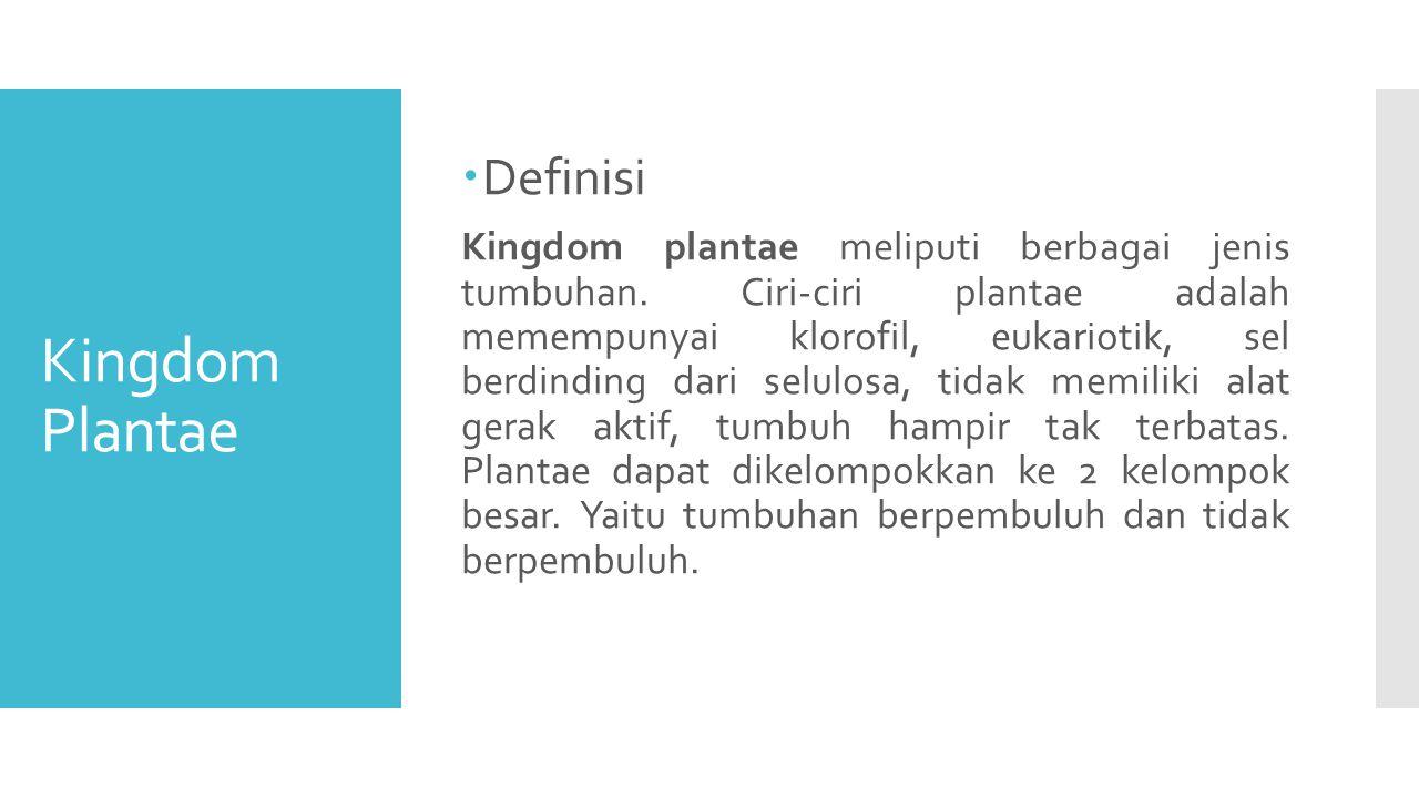Kingdom Plantae Definisi
