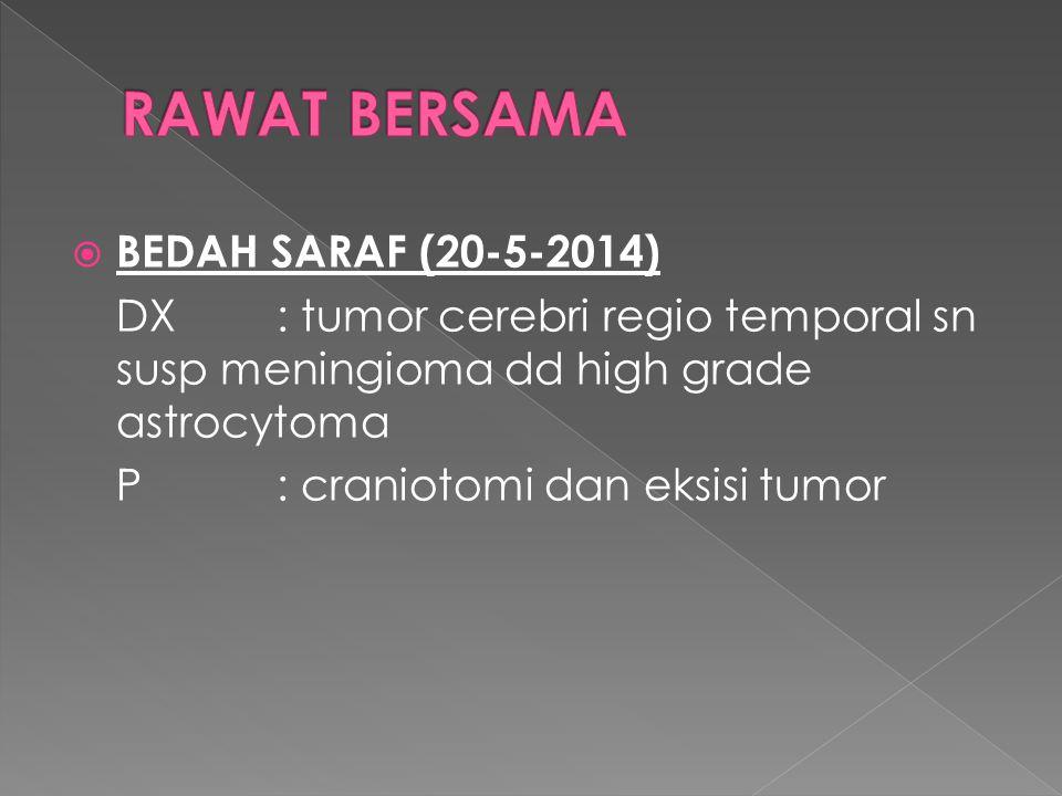 RAWAT BERSAMA BEDAH SARAF (20-5-2014)