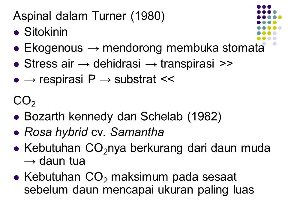 Aspinal dalam Turner (1980)