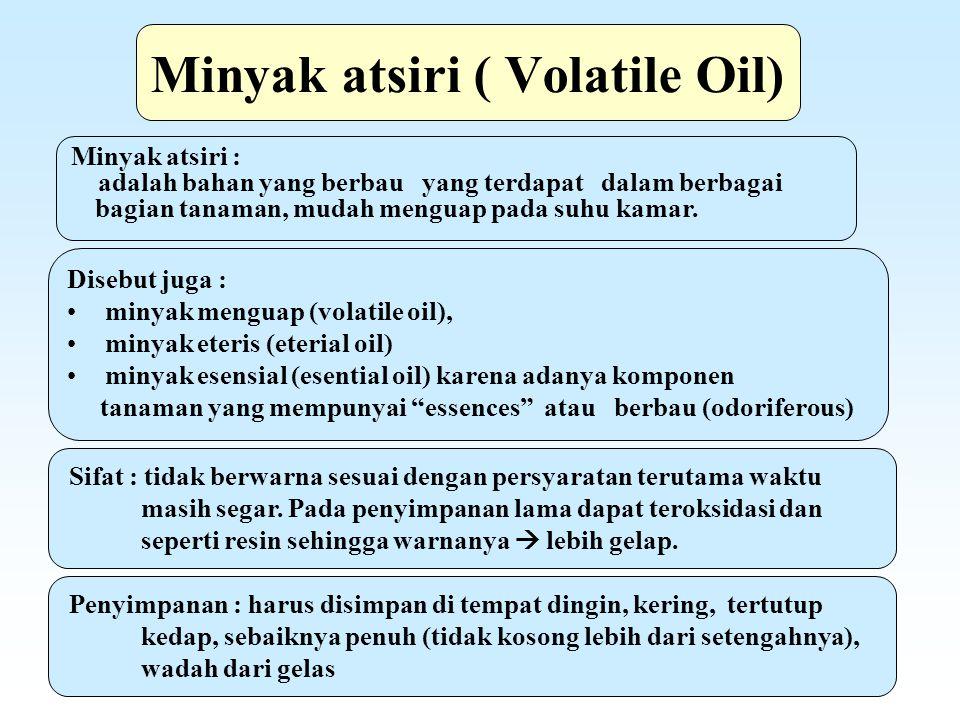 Minyak atsiri ( Volatile Oil)