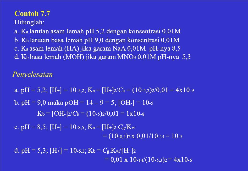 Contoh 7.7 Penyelesaian Hitunglah: