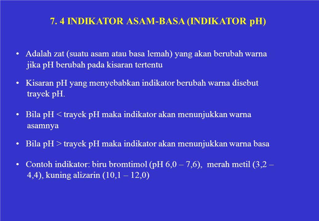 7. 4 INDIKATOR ASAM-BASA (INDIKATOR pH)