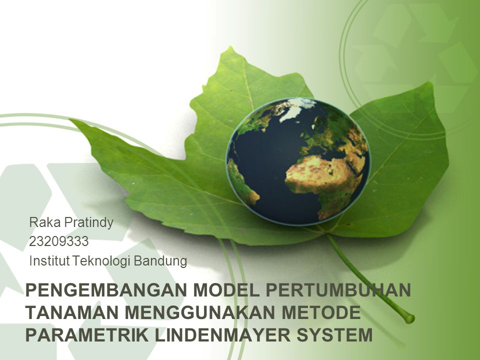 Raka Pratindy 23209333. Institut Teknologi Bandung.