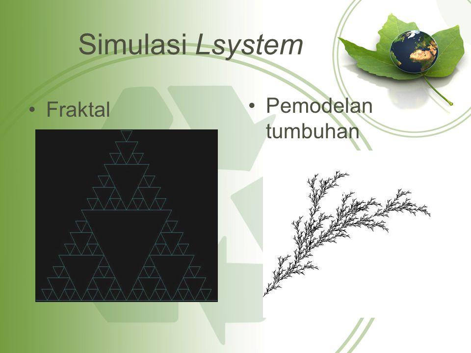 Simulasi Lsystem Pemodelan tumbuhan Fraktal