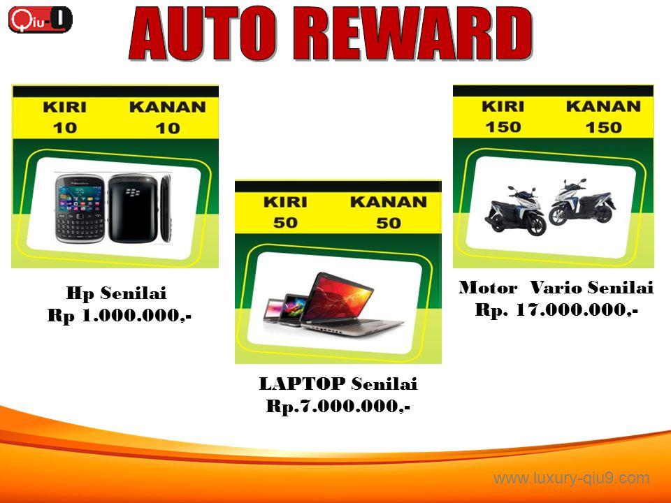 AUTO REWARD Motor Vario Senilai Hp Senilai Rp. 17.000.000,-