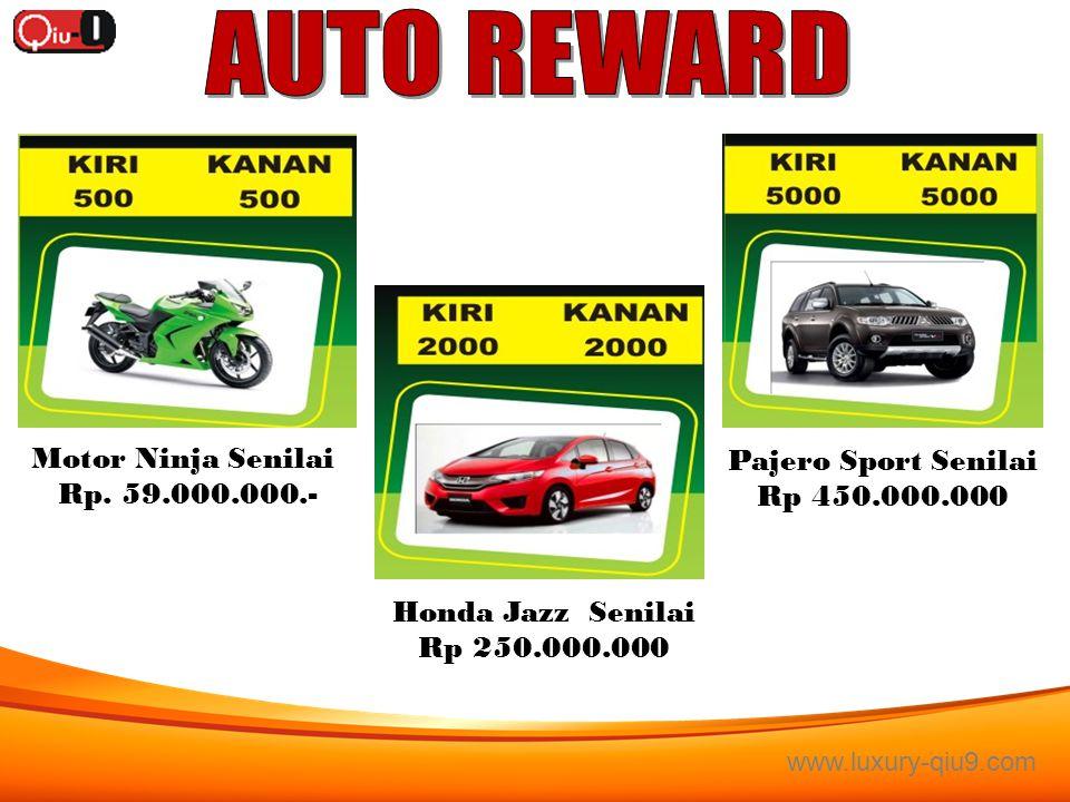 AUTO REWARD Motor Ninja Senilai Pajero Sport Senilai Rp. 59.000.000.-